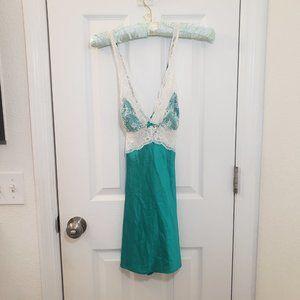 Victoria's Secret Lace Nightie Camisole Green